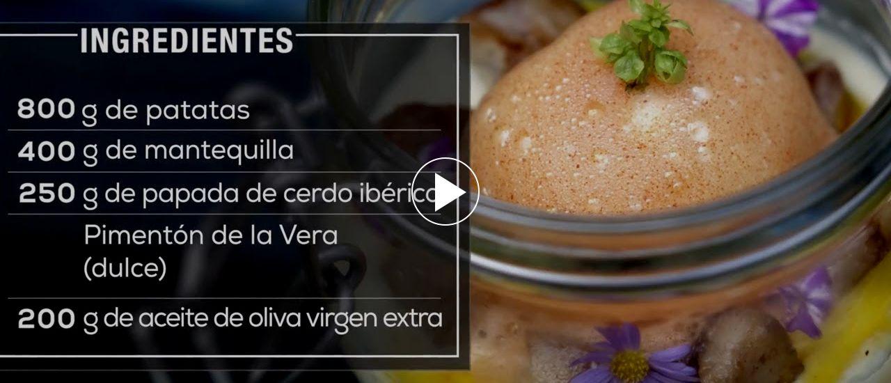 Embedded thumbnail for Parmetier de patata y papada de cerdo con huevo y aire de pimentón