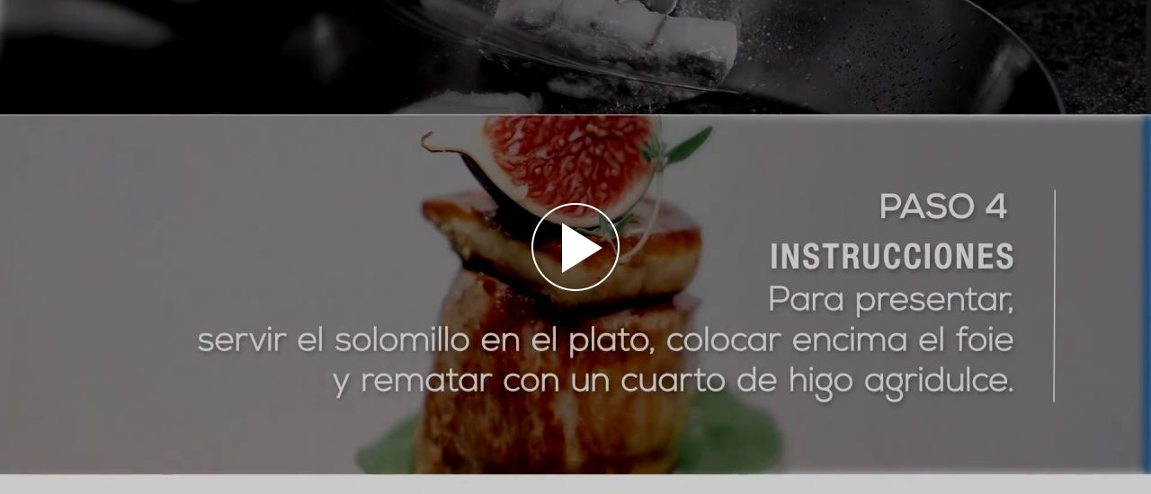 Embedded thumbnail for Solomillo de cerdo de capa blanca con foie e higos agridulces