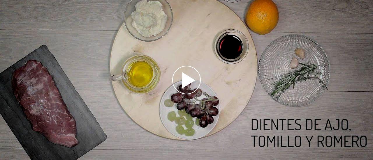 Embedded thumbnail for Presa macerada a la soja con requesón y uvas